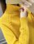 茵椒ta-to lnel Clセタ女秋冬2019新着品套头ニト女长袖ゆるるるファンン内配女史ウ-ルシャツ【タオルネル】アンズ色3 XL(130-155斤)