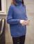 マズディスタタ·トールネック·ファッショ打底セパター加厚女秋冬新着品韩国フ潮ゆるの上着长袖ニコ青いM