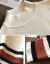 チャ凡加厚ニト女2019新着品セタ女秋冬レイディーズ服ゆるのストライプコート女韓国ファンシーショット長袖套头半タルネル上着047黒