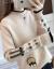 华夏子屋night女性裏ボアセットヘッド韩国ファンシー2019新品秋装レイディーズ服ゆるのトップス春秋デザイン长袖ブルー-不裏ボア(105-18斤)