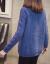 マテディック·トリルネル·ファック·ファッショ打底セパター加厚女秋冬新着品韩国フ潮ゆるの上长袖ニコ青いM
