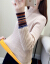 赤トンボのニトリ女2019秋冬新着付け品レディドレスのセタ女ユイ韓国フュージョン新商品Tシャツの女性ラインウェアの女性トップスカーキ色フリス