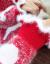 YAYAアヒの服カバニト秋冬2019新着品女头セ-タ女ゆるの外は薄い手をして底を打っています。外は肩の袖を着て赤いS【おすめ80-95斤】