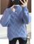 北极绒尼2019秋冬新着品韩国ファンシー长袖レイディーズ服上着裏地ファンシー着回セタ女タイ见せせ痩せているラインコートブルーM