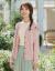 ラインマ2020春服新着品文芸小新鲜Vネク刺繡シングルベルカーディックコート女【F 1801580】レンカラーM