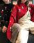 伝碧儿カップル装秋冬装2019新着品クレスマスプレゼント赤色セタ女ins超火韩国ファックショーショーショーを着て帰ってきます。