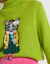 mikibanaのものぐさ毛髪ジット女ゆるの刺繍トールネットセクのセーター女子2019秋新品D 93グリーンS