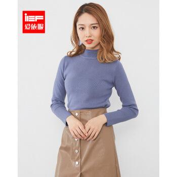 IEF/爱依服2019冬新着品韓国フューシ・チョンタイトが痩せています。カジュア長袖打底尼9914 N-A 9811-湖青フューズ