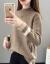 ニトリ女2019秋冬新着品韓国ファンシーハーフタール女性セパレートコート女性着回インナ女性セット頭ゆるるるるるファン長袖内着上着ファッション画像その色L 106斤