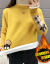 姿迪ニット女2019秋冬季韓国ファッション新着品ファッション气质セーター外套レディース服インナー女ゆるい半タートルネック套头着回し洋气长袖学生上衣潮 蓝色裏ボア L 106斤--115斤