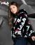 FILA FILA FILAフレディ・ウェルWHITE LINEシリーズ公式女子コート2019冬新作カジュアゆるのまねこの毛満印コートと同じじブララック-BK 170/88 A/L