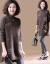 サオニバス半タリーネットセットヘッドセタ女2020春ゆるる大きなサズの中でローリング刺繍を厚くしたニコトニーコーヒー色フルーサー(90-140斤)
