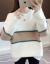 赤トンボニトリ女2019秋冬新着品韓国ファッショ長袖女史綴色上着ライフル