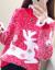 シフハイト女厚手2019新着品秋冬まねるミンククリスマスゆるるのセットトップ。鹿の外に赤い学生セタを着ています。冬モデルアンナの赤いM