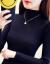诺美黛新着品ハーフタールネルネル2018秋冬长袖セイン気质ニタッフフフショー细女款ホワルト色L(100-120斤)