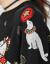 兄弟レディス服2020春新着品ウルンドネクティファゆるの長袖ニタッタ女A 3508ブラックS(2コード)