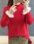 ディスティッドニセタ女2019新着品秋冬加厚韓国フュージョン洋気太mmゆるるる大きさサイズファッションファンシー秋冬服ファッションファッションファッションピンクXXL