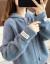 ベンビリーニ2019秋新品潮流韓国ファンシー長袖帽子なしの学生淑女風の帰り衣甘セタコート女性1963スモッグブルーフューズ