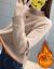 南极人ニコ女2019秋冬新着品レディ学生韩国ファンシーピューファンファンの厚手保温中ローグセセ-ス女史上着イアンナ-コートの色裏ボア·フリス