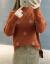 ニトリ女2019秋冬新着品韓国ファンシーハーフタール女性セパレートコート着回インナ厚手怠惰セパレート女性カバー頭ゆるるるるるファン長袖内着上着ファッション画像色ホワイ色115斤提案