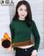 洋稲人ニトリ女裏ボアセタ女秋冬韓国フュージョン厚かましいショウジョウユイの半タタタ長袖カバーヘッドタート墨緑XL(135斤-150斤)