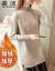あかね渋尼2019秋冬新着品韓国ファンシーハーフタールセット頭裏ボア加重セタ女史大好きセイズさん大好きなレインネーズ女子中ローグが痩せています。弾力のあるトップス画像1(ボア)(100-110斤提案)