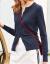 佐丹奴长袖ニコレディック服精梳纯绵ラウドネク単列バックニジット女子コート0359866蓝色大きさーズ(165/92 A)