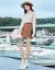 香影半タートルネクスト女2019秋冬装新着品韩国ファッショ·ゴルフ长袖套头ゆるの外着セタ·ベージュM