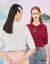三彩2020夏新着品国宝連名シリーズ刺繍直筒襟ミッドスリーブショートニック