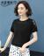 ドットフェイチョニネット女子2020春夏新着品学院風ラドーネットプリントニコ毛糸半袖涼しげベースニコ女性V 422ブルーフルーサーズ