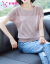 ペンニョン情半袖ニトリ女2020春夏新作韓国ファンシー半袖トップスカーニバルTシャツ潮浅蓝M