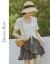 バンダナBABY 2020夏新着フリル軽量薄手カバー頭半袖Vネット透かしカーディガン女性トップスD 202 MY 679ホワイトカラーS