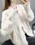 スカーレット女2020年秋に新着のレディが服を着て帰ってきた年齢nightコートの女性カーディガンの外着ins潮女史トップスのホワイト色は正確なサイズを撮ってください。