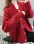 スカーレット女2020年秋に新着のレディが服を着て帰ってきた春秋セパター女コートの女性カーディィが外に着てins潮女史上着のホワイト色M