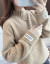 パレスクリエーターニートの女性用カバーの頭の外に厚手のハーフタートルネックの女性秋冬2020新品レディスモックのファッションファッションファッションは、上着のスモッグブルーを正確なサイズで撮影してください。