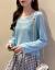 悠思敏Vネクアイスの薄手ニュトリ女韓国ファンシーの長袖Tシャツ日焼け止めプロゴルバー無のトップスイナの女夏みかん粉フーズ