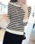 KRストライプニート女性の中に2020年秋冬の新着付けアイテムとして、年齢相応の長袖トップスと女性の黒いホワイトストライプを着用します。正確なサイズを撮ってください。