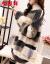 恒源祥尼2020冬の新商品潮流の中でロングールが着ている上着のカジュアル気質ストライプセタが女性ハーフタートルの長袖イナが女性7185ベージュカラーカラーカラーカラーカラーカラーカラーカラーのフリーサーズ