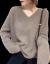 赤とんぼニート女ゆるの厚手ファンシー女長袖2020年秋冬新品着着戻りVネック打底レディック上着ラクダ色どうぞ正確な数字を撮ってください。