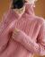 慕純棠タオルネット女子2020秋冬韓国ファッショ新着品ユル着回外洋気秋加厚保温外着やせニコンピンクM