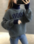 慕沁岩ta-to lness ck女子ユル2020秋新着品学院风尼女套头学生外穿night韩国Frishショウが痩せる。保温に戻ると濃い灰色になっています。