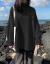 女性厚手コート2020新着品韓国ファンシーの外着怠惰風ブラックトールネット秋冬新作