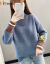 Elycraシェニール女子裏ボア加厚2020秋冬新着品レイディーズ服韓国ファンシーファッションハーフターキーハーフターク熊刺繍セットヘッドゆるるるセバスシーアワインレッド不裏ボア対応のコードを撮ってください。