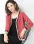 べき乗缇莎night女カーディ・ティガン短外套女2021年新着品Vネクターママ服外挂セパレート外套红L的适合105-115斤ぐらい
